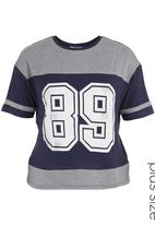 edge - Printed football T-shirt Blue/Grey