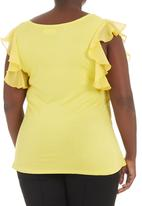 edit - Flutter-sleeved Tshirt Yellow