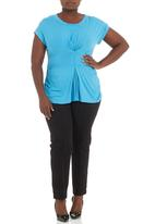 FRIENDS - Pleat detail top Turquoise