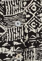 Megalo - Printed shirt Black/White