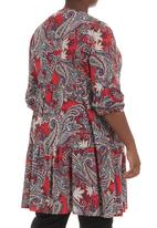 Megalo - Smocked tiered tunic  Multi-colour