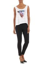 GUESS - Cropped traveller tee White
