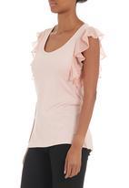 edit - Flutter-sleeved T-shirt Pale Pink