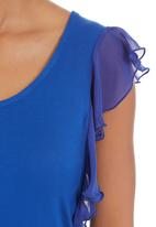 edit - Flutter-sleeved T-shirt Mid Blue