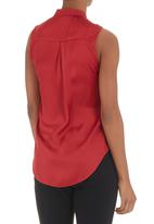 edit - Frilled blouse Red