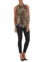 edit - Frilled blouse Animal-Print
