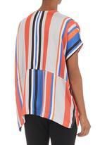 Me-a-mama - Colourblocked woven top Multi-colour