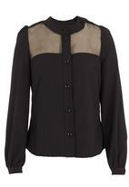 adam&eve; - Crepe shirt  Black