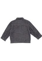 Phoebe & Floyd - Polar fleece-lined denim jacket Grey