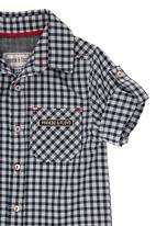 Phoebe & Floyd - Long-sleeved roll-up shirt Black