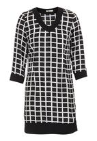 CRAVE - Sixties printed tunic  Black/White