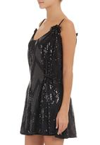 edit - Tunic with sequins Black