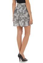 Amanda May - High-waisted skirt Black/White