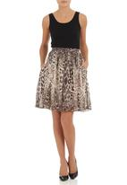 Amanda May - Cotton skirt Animal Print