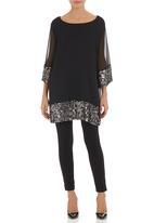 Pringle of Scotland - Shilpa 3/4-sleeved tunic Black