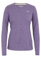 New Balance  - Heathered Long-sleeve T-shirt Mid Purple