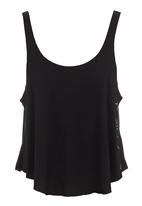 RVCA - Pagan drape tank Black