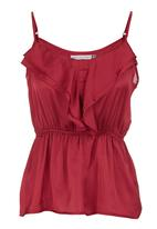 edit - Strappy cami with frill Purple