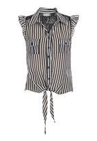 edit - Shirt with back detail Black/White