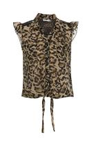 edit - Shirt with back detail Animal-print