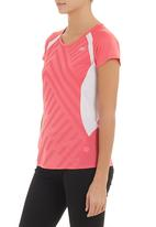 New Balance  - Momentum short-sleeve graphic top Coral