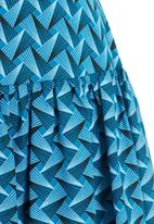 AfroDizzy - Fit and Flare Skirt Turquoise