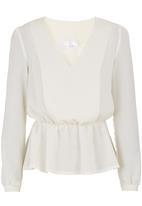 adam&eve; - Soft-waisted blouse Milk