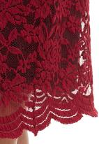edit - Lace dress with scalloped edge Magenta