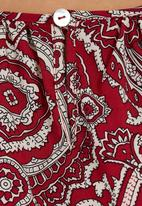 STYLE REPUBLIC - Paisley-print Drop-waist Tunic Red