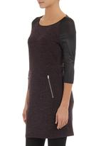 STYLE REPUBLIC - Tunic with zip detail Dark Purple