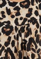 edit - Animal-print cut and sew tunic Multi-colour