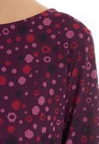 edit - Geometric printed tunic Red