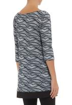edit - Printed tunic Black