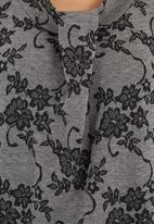 edit - Asymmetrical Tunic Mid Grey