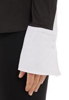 KARMA - Cotton voile shirt Black/White
