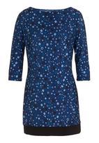 edit - Geometric printed tunic Blue (mid blue)