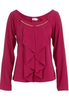 edit - Chain blouse with long sleeves Dark Pink