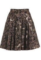 Amanda May - Brocade pleated skirt Metallic
