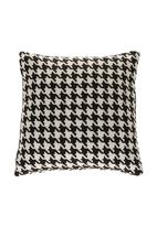 Luvlee stuff - Houndstooth-print cushion cover Black/White