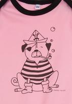 Petit Pois - Printed onesie Pink