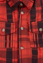 Seven Ounce - Baby check shirt Red