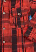 Seven Ounce - Kids check shirt Red