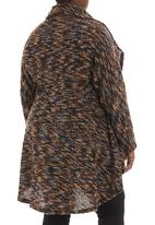 Megalo - Textured waterfall cardigan Multi-colour