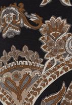 Ilan - Paisley-printed tunic Black/White