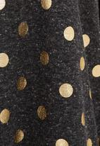 Ilan - Polka-dot batwing top dark Grey