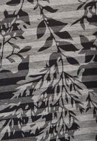 Ilan - Floral-printed batwing top mid Grey