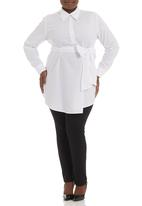ME - Longer length work shirt White