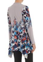 edit - Asymmetrical tunic Multi-colour