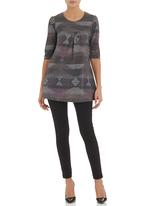 edit - Cut and sew tunic Multi-colour