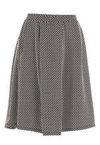MICHELLE LUDEK - Full circle skirt Black/White